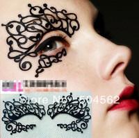 Eye Mask Carbon fiber creative stage art eye paste Hollow Artistic Eye Mask T01