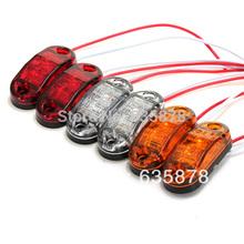2X LED Side Marker Light Clearance Lamp 12V 24V E-marked DOT Car Truck Trailer UTE Free shipping(China (Mainland))