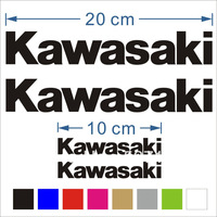 (4x) Kawasaki  Vinyl decals stickers for zx-6r zx-7r zx-9r zx-10r zx-12r  Black