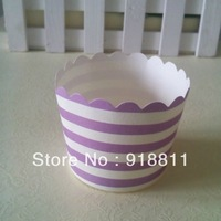 Free Shipping JUST ARRIVAL!!!400pcs/lot Purple Striped Cupcake Wrappers,Candy Nut Cups,Cupcake Cases,cupcake liners baking cups