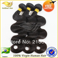 Queen hair products,brazilian virgin hair body wave,100%human hair 3pcs/lot unprocessed hair Free shipping