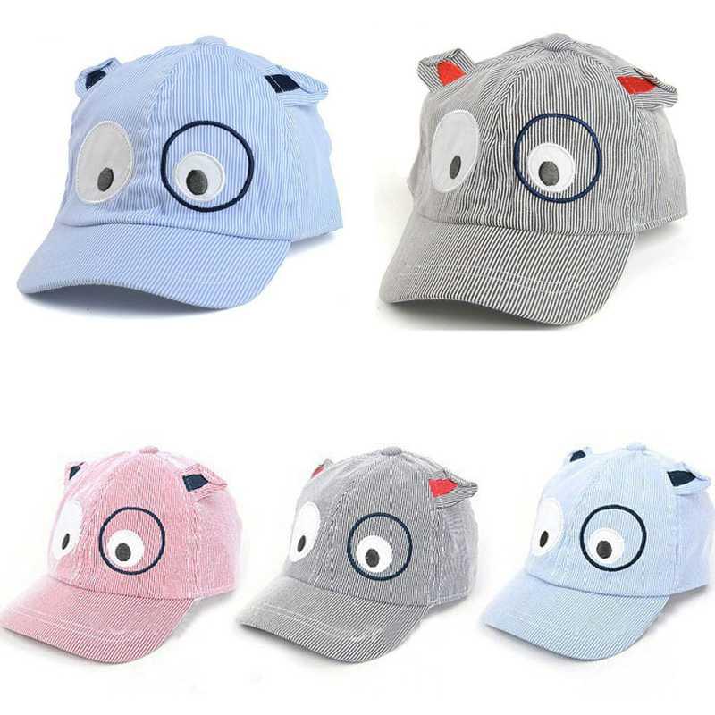 Free Shipping Dog Design Baseball Cap Animal Ears for Kids' Sun Hat Fashion Hip-hop Summer Caps For Boys Girls Headwear 1-6Y(China (Mainland))