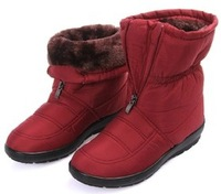 Free shipping Pregnant ladies shoes waterproof shoes  new winter thick cotton-padded non-slip snow boots female version