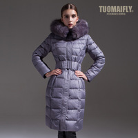 Christmas promotion Tuomaifly winter new arrival down coat raccoon fur female fashion slim 158