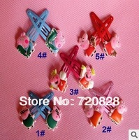 New arrival!Peppa Pig Hairpin Clip Hair Ornament BB Clamp Clip 30Pcs/lot Baby Hair Clip 5 Colors