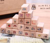 2014 Cute cartoon seal diary  fashion stamps Deco design 21pcs/set 11.5*4*6.5cm  free shipping