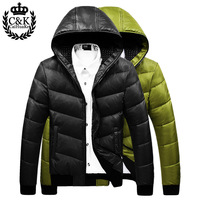Free shipping 2013 winter male slim down coat with a hood fashion design short down coat male
