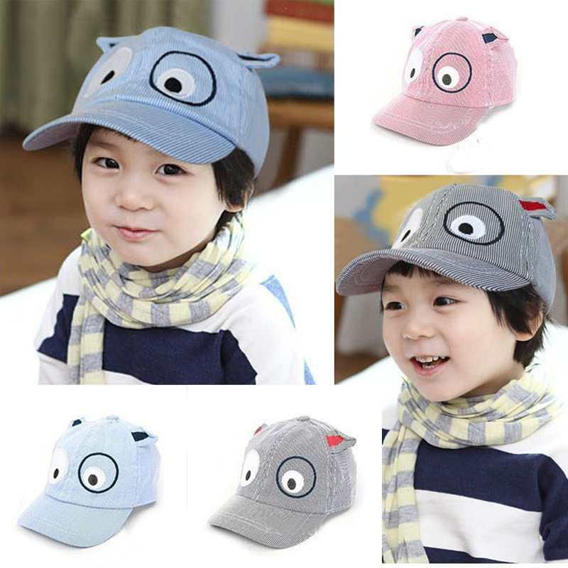 Free Shipping Baby Kid Children Sunhat Cute Beret Baseball Peak Hat Cap Casquette Cartoon Dog Pink/Blue/Gray 1-6Y Free Shipping(China (Mainland))