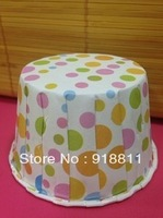 200pcs/lot Rainbow Polka Dots Ice Cream Cups,Candy Cups,Muffin Cups,Snack Cups,Fruit Cups,Paper Baking Cups,Dessert Cups