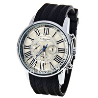 2013 New High Quality Mens Automatic Mechanical Watch Laogeshi Brand Men Watches Roman 6 Needles Wristwatch Rubber Sports Watch