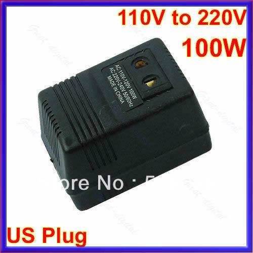 B39Free Shipping 100W AC Power 110V to 220V Voltage Converter Adapter Travel Transformer US Plug(China (Mainland))