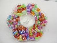 Free shipping  MIXED COLOR  ACRYLIC BEADS FOR DIY  BEADS STRETCHY CORD SETS STARFISH