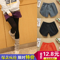 C4-24 2013 autumn and winter shorts all-match elastic waist shorts boot cut jeans female thickening shorts