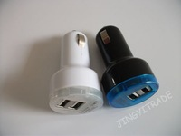 dual usb car charger mobile phone car charger for iphone4s/4 free shipping 8686
