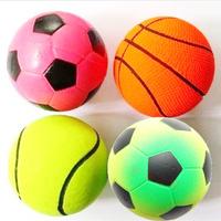 Free Shipping Pet Supplies Round Ball Elastic Diameter 6 CM Dog Toys 4 Pcs