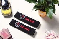 Saab emblem car seat belt 1pair=2pcs car safety belt 1pair=2pcs safety belt cover 1pair=2pcs