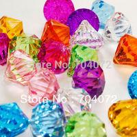 wholsesale 100pcs 26*21mm Hanging  Diamond acrylic crystal ball Diamond Table Scatter -mix color