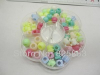 Free shipping  MIXED COLOR  ACRYLIC  BEADS FOR DIY  BEADS STRETCHY CORD SETS HOLE BEADS