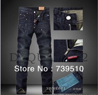 Free Shipping 2013 Hot new fashion Men's Slim Straight jeans men's jeans brand D20880
