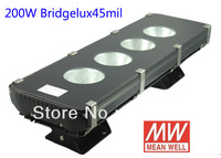 200w led floodlight  square lamp Plaza lights 3 years warranty MEANWELL driver Bridgelux chip DHL Free shipping