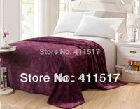 luxury luxury soft warm fleece Sofa bed throw blankets purple blankets size queen/king blankets
