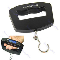 New LCD 50kg/10g Digital Electronic Travel Luggage Hanging Weight Hook Scale