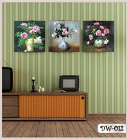 New Arrival Frameless Painting 3D Flower Pot Home Painting Picture 3pcs/set 29*29cm 012