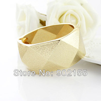 New 2013  Fashion Design Jewelry Gold Color Alloy  Rock Cuff Bangles And Bracelets for Women