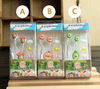 2013 Designer Novelty Cute Cartoon Anime kobito-dukan 3.5mm In-ear Earphone Cool Headphone with Case Retail Box Free Shipping