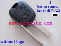 Citr 2 button remote key case shell,VA2 blade without groove &Citr remote key blank&car keys