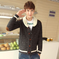 2013 autumn and winter sweater male sweater thickening cardigan men's clothing sweater outerwear