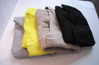 Autumn and winter thread knitted basic shirt vertical stripe elastic knitted basic sweater o-neck knitted