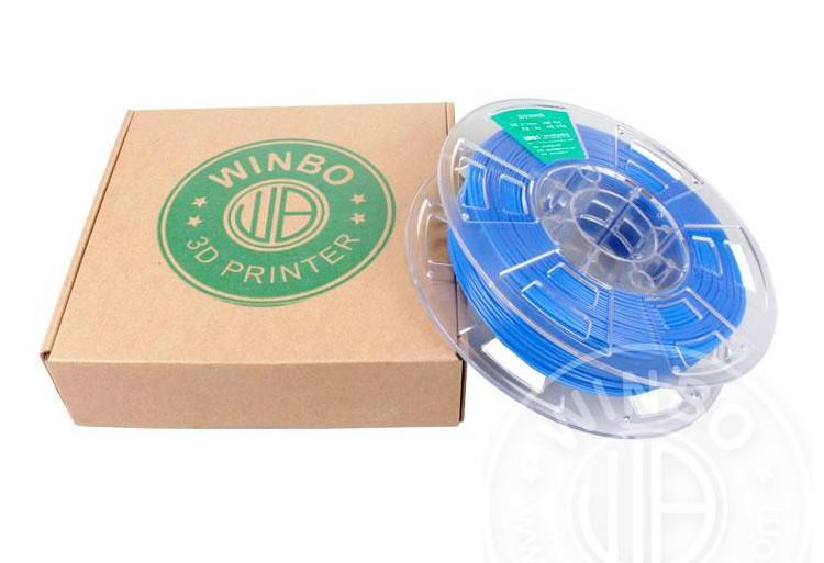 Пластмасса Winbo Dark Blue PLA filament for 3D printer 1.75mm N.W 700g plastic spool