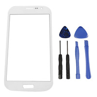 White original Outer Glass FOR Samsung Galaxy Note 2 N7100 T889 N7108 N719 N7102 Digitizer/LCD touch Screen + adhesives + Tools
