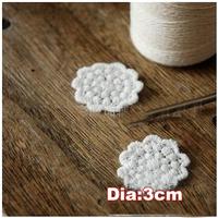 Kawaii flower shape cloth paste,snowflower cotton embroidery paste,appliques lace,decoration patches,embellishment(ss-1849)