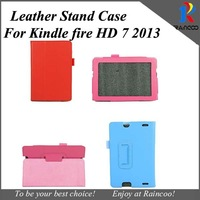 "20pcs/lot Kindle fire HD 2013 7"" leather tablet Case Cover,Lychee PU Leather Case for Amazon Kindle fire HD7 2013,many color"