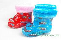 Fashion crystal rain boots rainboots child plus velvet boots