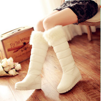 Winter new arrival fur boots platform thermal cotton-padded shoes slip-resistant snow boots flat heel boots high-leg plus size