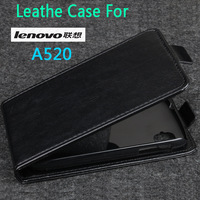 2013 Lenovo A520 Leather Case Colofual leather pouch cover case for Lenovo A520 phone Free Shipping BW