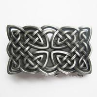 3D American Western Knot Pattern Fashion Rock Wild Hip Hop Punk Metal Belt Buckle Free Shipping LALAS
