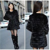 Stock! 2013 New Fashion Faux fur coat for women middle-long outwear  Fur ball  Garment women Winter Jacket Coat High Quality