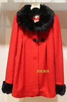 2013 winter medium-long woolen outerwear 926136