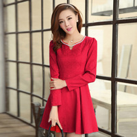 2013 autumn and winter ccdd women's basic one-piece dress