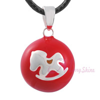 "6pcs Pregnancy chime pendants wholesale ""BABY LOVE"" musical chime ball Mexican bola pregnancy bola pendant Necklace N14NB160"