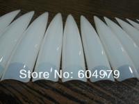 The longest length 9cm 10 bags/ Lot Clear + Nature Acrylic Nail Art Long Stiletto Sharp Ending Salon Artificial  False Haft Tips