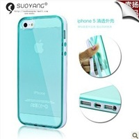 2013 New Arrival, Ultra thin slim case for iphone 5 5S, Transparent soft case for iphone 5 5S,free shipping