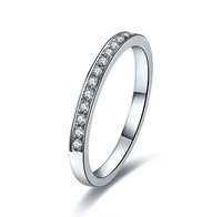 Wholesale Korean Style SONA Synthetic Diamond Ring for Women 0.5 CT Engagement Semi Mount Band Sterling Silver 18K Gold Plated