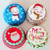 200pcs Christmas cupcake decorations
