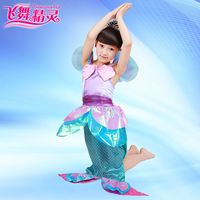 free shipping 2014 new Child little mermaid costume/ female child performance wear / Christmas Cos-play costume, free shipping