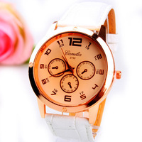 2013 new women rhinestone watch  leather strap casual relogio  femenino clock business brand watch szpt000107